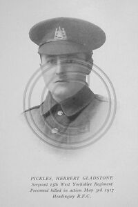 Pickles H G Sergt 15/721 15th West Yorkshire Regiment Photo 6x4