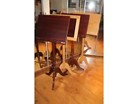 Four new Victorian style solid wood music stands; ex shop.
