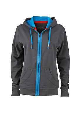 James & Nicholson Damen Kapuzenpullover Hoodi Shirt Sweatshirt Jacke I S – XXL