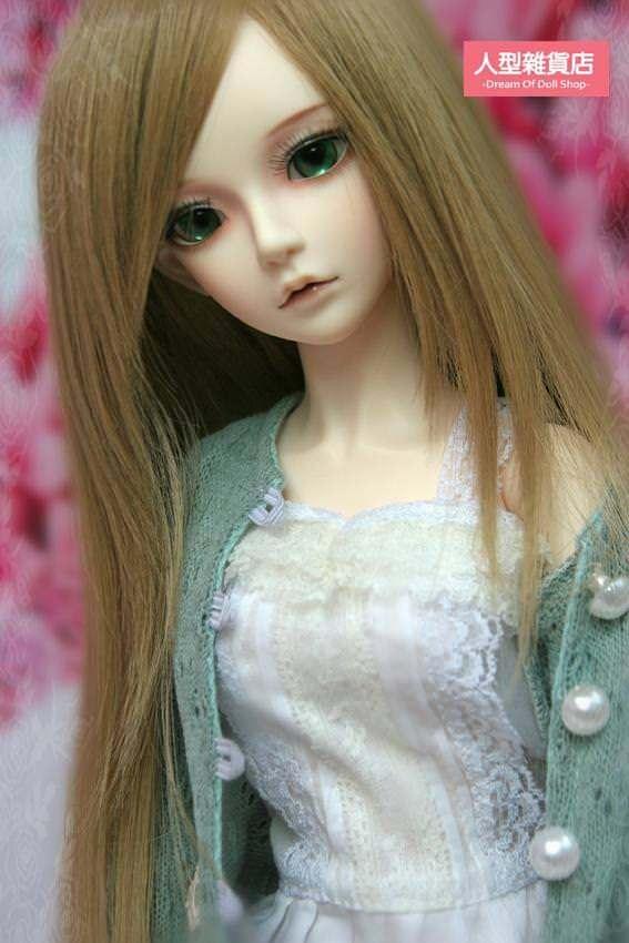 BJD Doll 1//3 9-10 Wig Long Hair Side-partings High Temperature Fiber Silver Grey