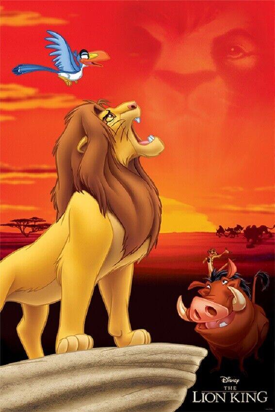 LION KING - KING OF PRIDE ROCK MOVIE POSTER, USA Version,