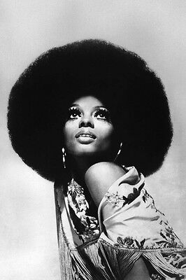 DIANA ROSS 24X36 POSTER ICONIC PHOTO AFRO HAIRSTYLE STUNNING EYE MAKEUP 1970'S - Hairstyles 1970s