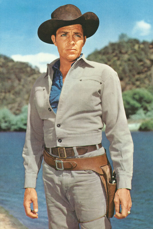 Dale Robertson Tales Of Wells Fargo Color 18x24 Poster