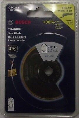 """Bosch OSC212T 2-1/2"""" Titanium Bi-Metal Saw Blade Swiss"""