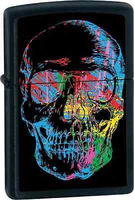 Zippo 28042, Skull, X-Ray, Black Matte Finish Lighter, Full Size