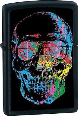 """Zippo """"X-Ray Skull"""" Black Matte Finish Lighter, Full Size, 28042"""