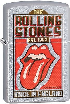 Zippo Windproof Lighter With Rolling Stones Tongue Logo, 29127, New In Box