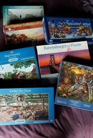 7 jigsaw puzzles for £10