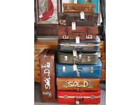 Various Vintage Suitcases For Bedroom Storage, Wedding Or Shop Display