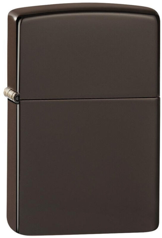 Zippo Lighter Classic Brown Design Made In The USA 14554