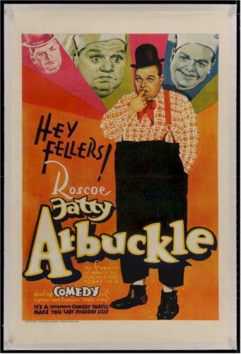 HEY FELLERS! Original Vintage Movie Poster FATTY ARBUCKLE