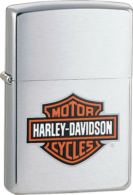 Zippo Lighter Harley Davidson Logo Bar & Shield Windproof USA 13252