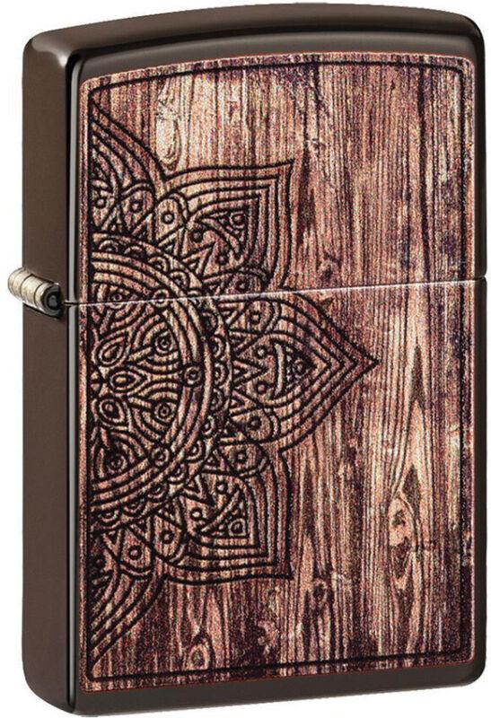 Zippo Lighter Brown Mandala Design Made In The USA 14571