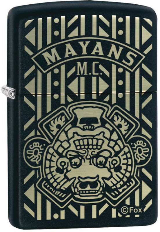 Zippo Lighter Mayans M.C. Black Matte Made In The USA  13720