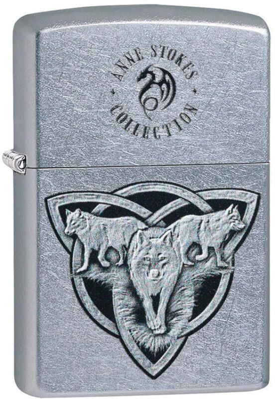 Zippo Lighter Anne Stokes Wolf Trin Design Street Chrome Made In The USA 13754