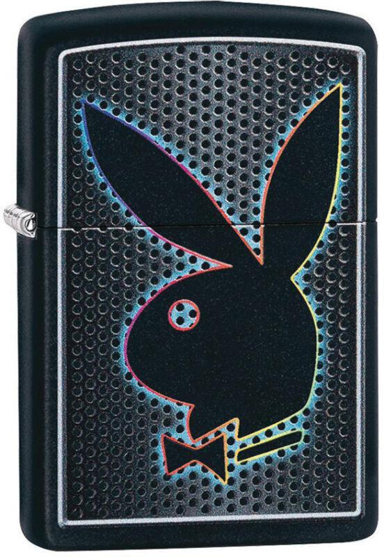 Zippo Lighter Playboy Bunny Design Black Matte Made In The USA 14353