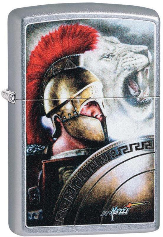 Zippo Lighter Mazzi Roman Design Street Chrome Made In The USA 13735