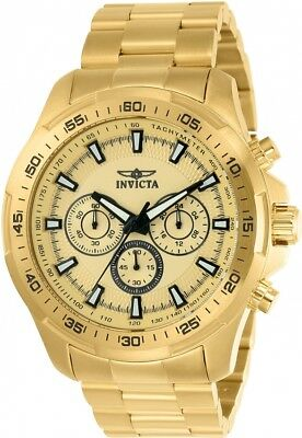 Invicta 22783 Speedway All Gold Chronograph Stainless Steel Watch