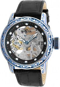 Invicta 52mm Excalibur Mechanical 18601  Leather Strap Watch ,New