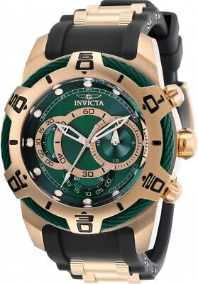 Invicta 29069 Bolt Men's Chronograph 50mm Rose Gold-Tone Green Dial Watch