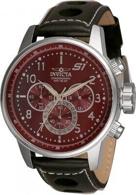 Invicta S1 Rally Chronograph Quartz Burgundy Dial Men's Watch -