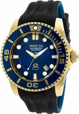 INVICTA Men's Pro Grand Diver SL Steal + Gold Plated Automatic Watch 20203 NWT