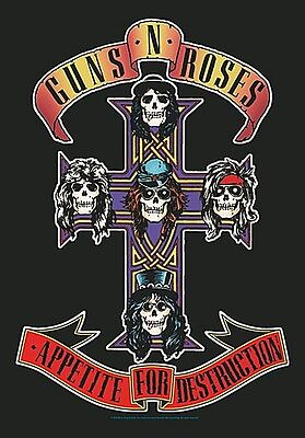 Guns N' Roses Appetite For ...large fabric poster / flag   1100mm x 750mm (hr)