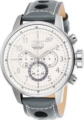 Invicta 25723 S1 Rally Chronograph 48mm Men's Grey Leather Watch