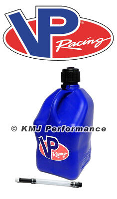 VP Racing Blue Square 5 Gallon Race Fuel Jug Gas Can + Fill Hose SCCA IMCA (Fuel Racing)