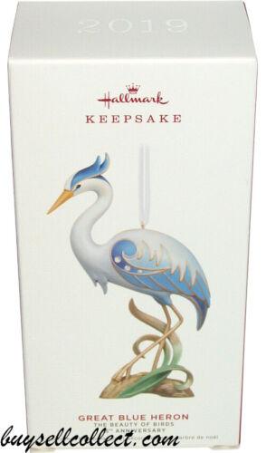 2019 Hallmark GREAT BLUE HERON Beauty of Birds 15th Anniversary Xmas ornament