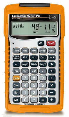 Calc  Ind  Construction Master Pro Calculator 4065 W Hard Case   Priority Mail
