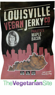 Louisville Vegan Jerky - Maple Bacon - meatless, vegetarian, FREE SHIPPING