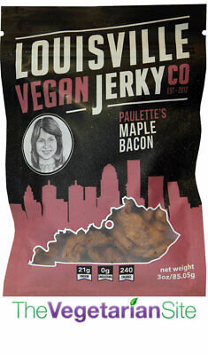 Louisville Vegan Jerky - Maple Bacon - meatless, vegetarian, FREE SHIPPING - Meatless Vegan Jerky