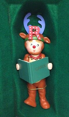 "VINTAGE 1986 MIDWEST MARY ENGELBREIT PAGEANT ORNAMENT ""R"" REINDEER"