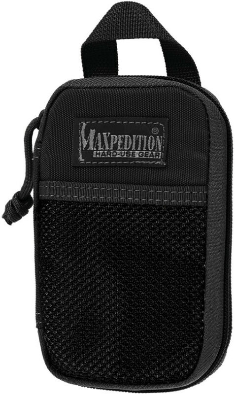 "Maxpedition MX262B Micro Pocket Organizer Black 3.5"" Wide x 5.5"" High x 1"" Deep"