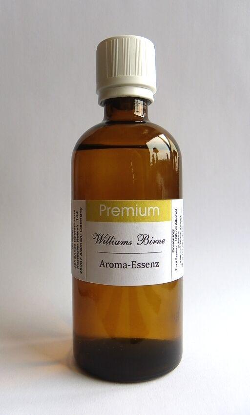 PREMIUM Williams Birne Aroma Essenz 100 ml konzentr., f. Birnenschnaps usw. TOP