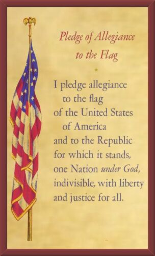 """Pledge of Allegiance to the Flag 5""""X8"""" Magnetic Laminated Flexible Sign/Poster"""