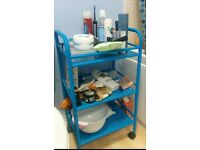 Bathroom storage trolley