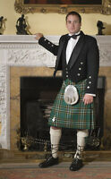 Irish National tartan Kilts for rent or purchase -- your choice