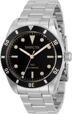 Invicta Men's 31290 Pro Diver Automatic 3 Hand Black Dial Watch Black Automatic Watch