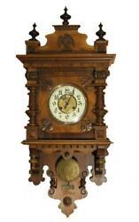 GUSTAV BECKER Antique GERMAN VIENNA REGULATOR Wall Clock Orig. Pendulum CHIMES