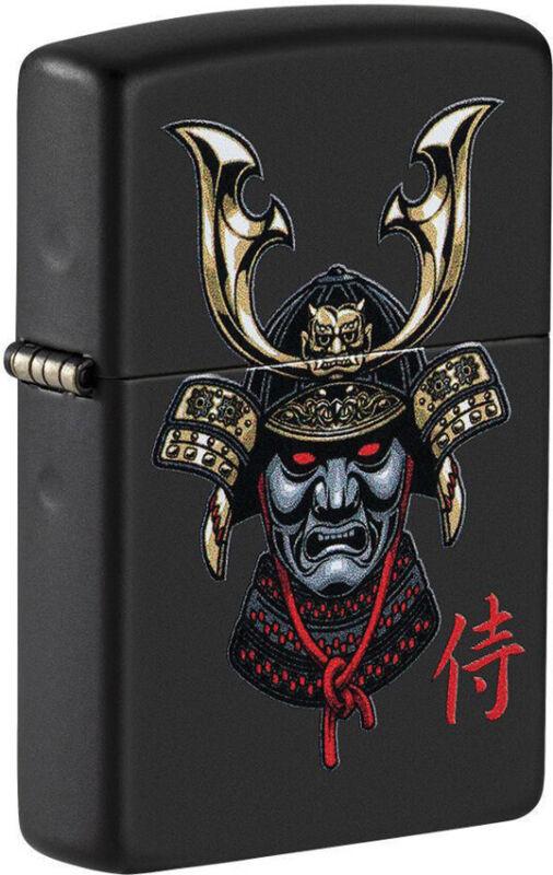 Zippo Lighter Samurai Helmet Design Black Matte Made In The USA 16630