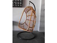 swinging basket chair