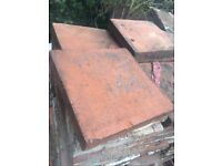 Red quarry tiles (200 approx) FREE