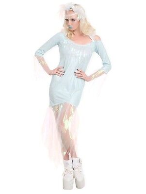 New Frozen Ice Queen Dress Costume Adult Size Medium Med M Womens Snow - Adult Ice Queen Costume