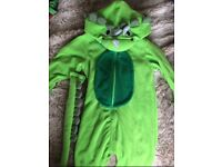 Kids Triceratops onesie with detachable tail