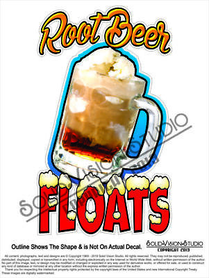 Root Beer Floats Concession Vending Food Cart Ice Cream Truck Pop Sign Decal