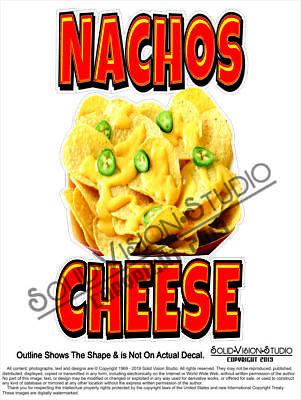Nachos Cheese Concession Vending Food Truck Menu Pop Sign Weatherproof Decal