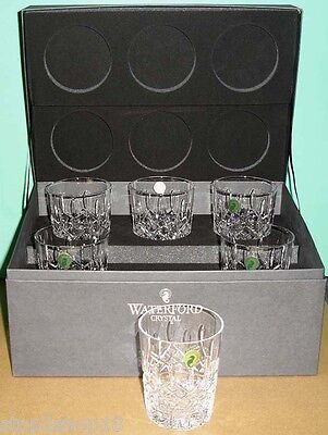Waterford Lismore DOF Double Old Fashioned Set of 6 Glasses Deluxe Gift Box NEW