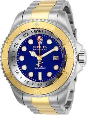 Invicta Hydromax Quartz Blue Dial Two-tone Men's Watch 29733 Gmt Quartz Watch